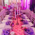 Purple Decor with Candle